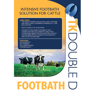 TK Double D intensive footbath for cattle (use at 2%)